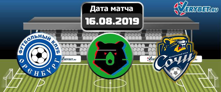 Оренбург - Сочи 16 августа 2019 прогноз