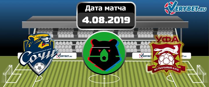 Сочи – Уфа 4 августа 2019 прогноз