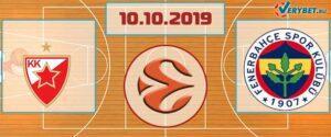 Црвена Звезда – Фенербахче 10 октября 2019 прогноз