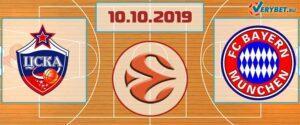 ЦСКА – Бавария 10 октября 2019 прогноз