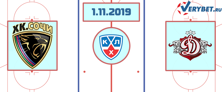 Сочи — Динамо Рига 1 ноября 2019 прогноз