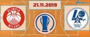 Милано – Анадолу Эфес 21 ноября 2019 прогноз