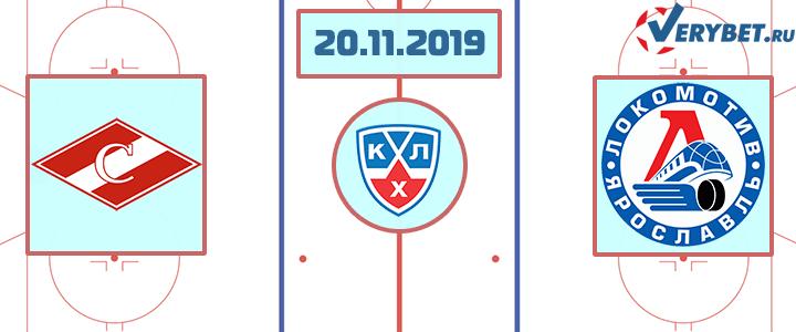 Спартак Москва — Локомотив 20 ноября 2019 прогноз