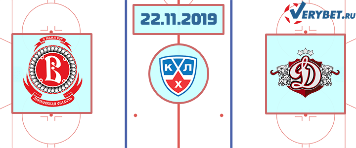 Витязь — Динамо Рига 22 ноября 2019 прогноз