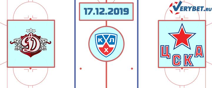 Динамо Рига — ЦСКА 17 декабря 2019 прогноз
