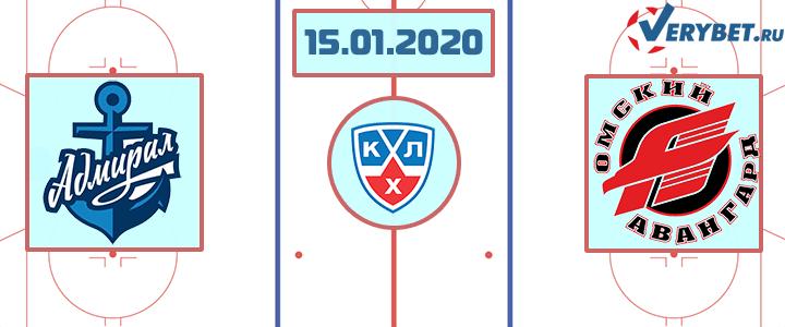 Адмирал — Авангард 15 января 2020 прогноз