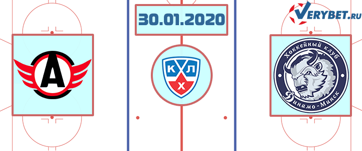 Автомобилист — Динамо Минск 30 января 2020 прогноз