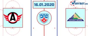 Автомобилист — Салават Юлаев 16 января 2020 прогноз