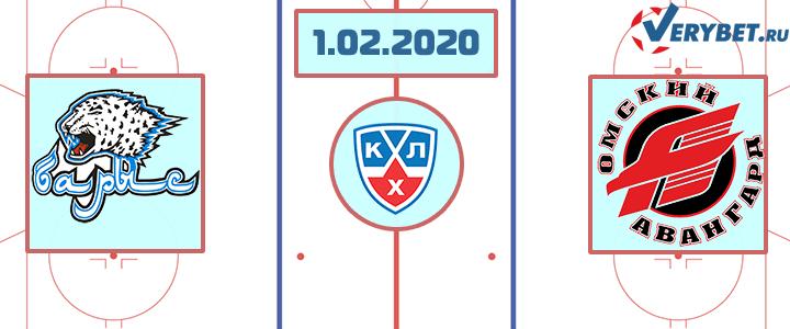 Барыс — Авангард 1 февраля 2020 прогноз