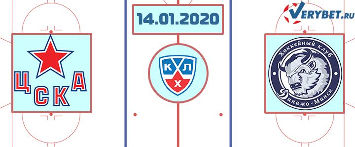 ЦСКА — Динамо Минск 14 января 2020 прогноз