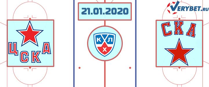 ЦСКА – СКА 21 января 2020 прогноз