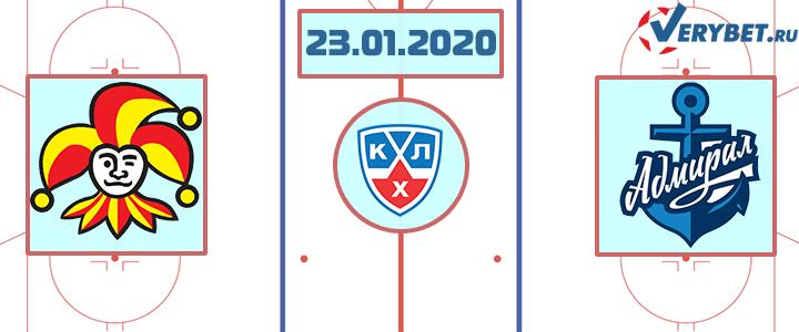 Йокерит — Адмирал 23 января 2020 прогноз