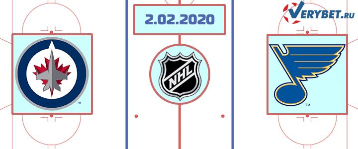Виннипег — Сент-Луис 2 февраля 2020 прогноз