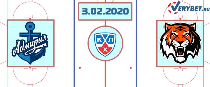Адмирал — Амур 3 февраля 2020 прогноз