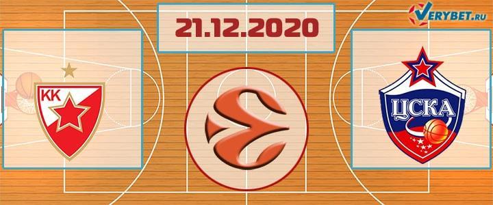Црвена Звезда – ЦСКА 21 февраля 2020 прогноз