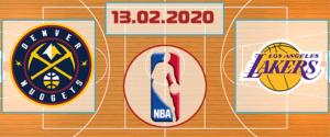 Денвер Наггетс – Лос-Анджелес Лэйкерс 13 февраля 2020 прогноз