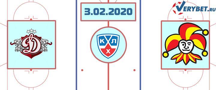 Динамо Рига — Йокерит 3 февраля 2020 прогноз