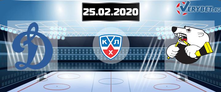 Динамо Москва – Трактор 25 февраля 2020 прогноз