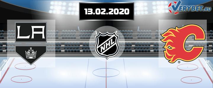 Лос-Анджелес — Калгари 13 февраля 2020 прогноз