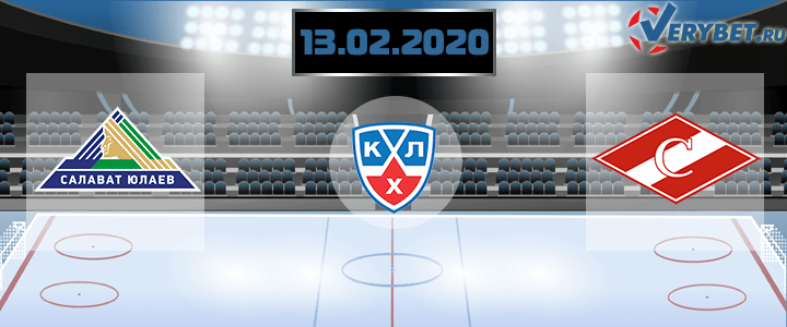 Салават Юлаев — Спартак 13 февраля 2020 прогноз