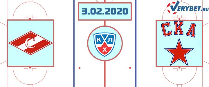 Спартак Москва — СКА 3 февраля 2020 прогноз