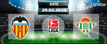 Валенсия – Бетис 29 февраля 2020 прогноз