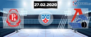 Витязь — Локомотив 27 февраля 2020 прогноз