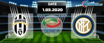 Ювентус – Интер 1 марта 2020 прогноз
