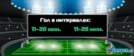 Ставки на забитый гол в футболе за интервалы времени