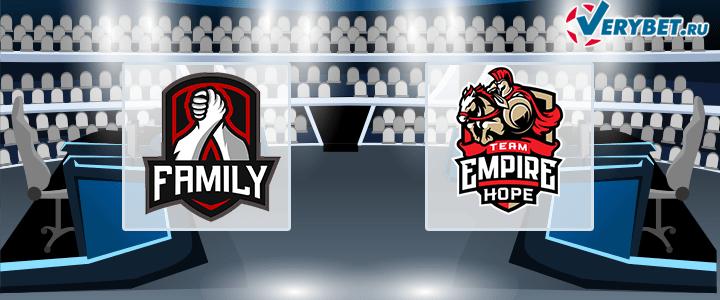 Family Team – Team Empire 30 июня 2020 прогноз