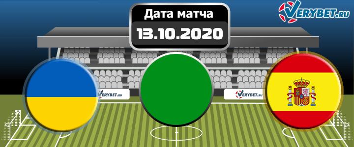 Украина – Испания 13 октября 2020 прогноз