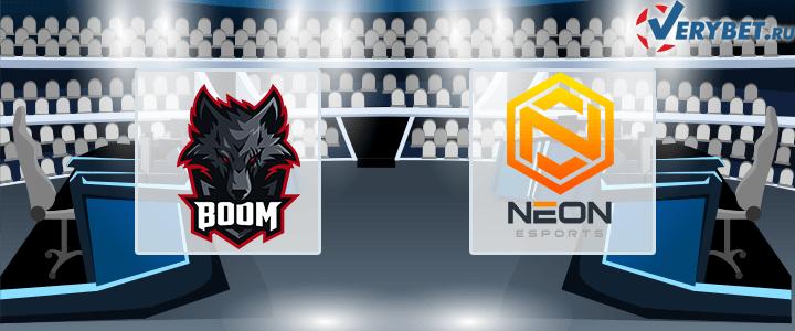 BOOM – Neon Esports 20 января 2021 прогноз