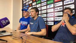 Хоккеисты СКА на пресс-конференции